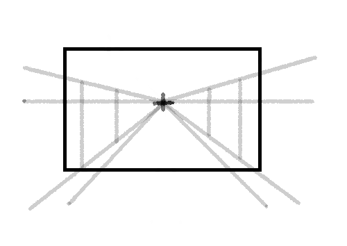 demonstration of one point perspective