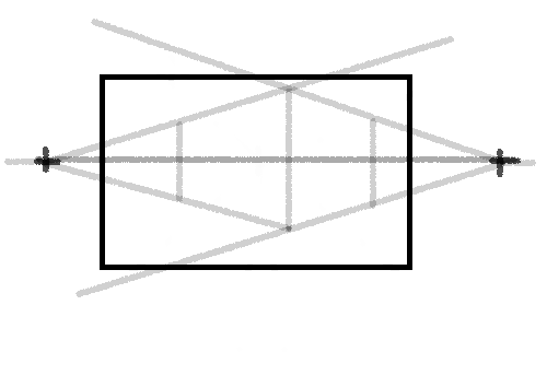 demonstration of two point perspective